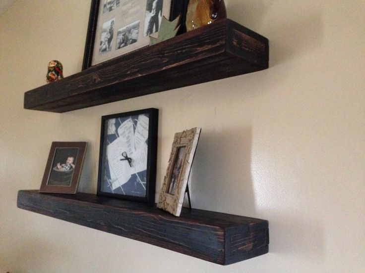 Rustic Wood Floating Shelves by RollinsRusticDesigns on Etsy https://www.etsy.com/listing/218821907/rustic-wood-floating-shelves