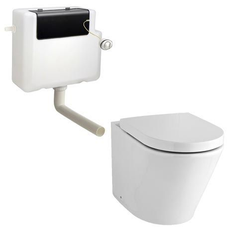 Solace Back to Wall Toilet with Soft Close Seat + Concealed Cistern