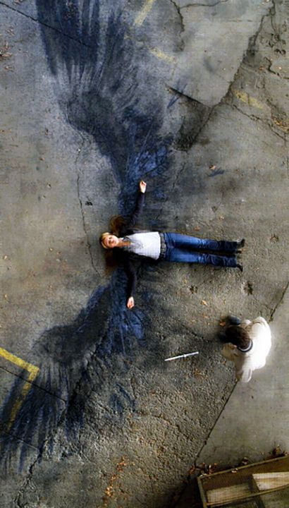 Angel's Wings from the TV series, Supernatural. I love the burnt out wings of the angels when they die. It's sad, but they're beautiful