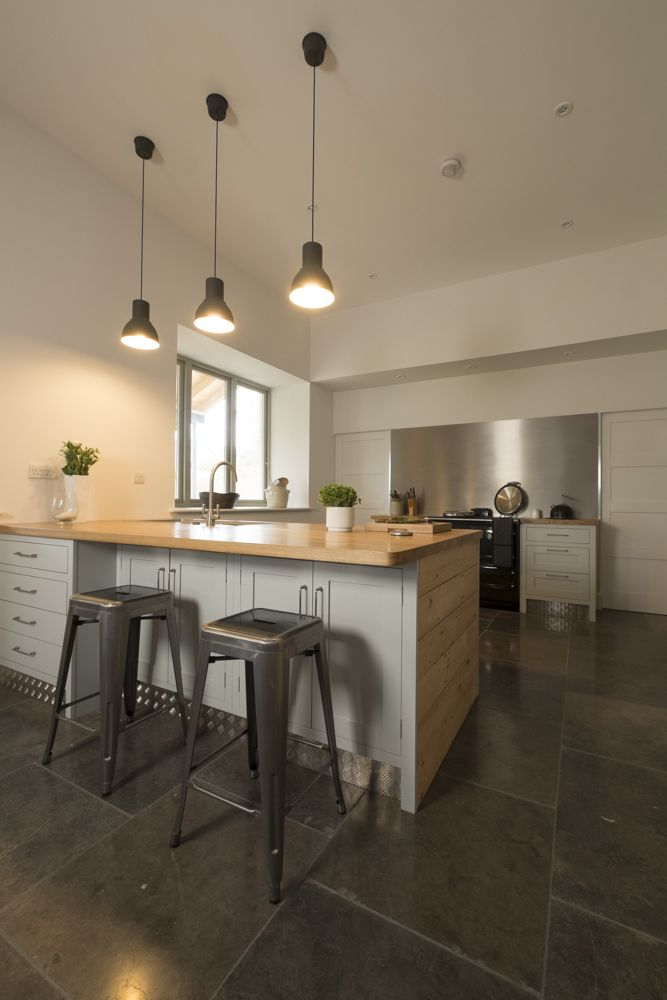 Chalkhouse Sjaker kitchen with industrial elements