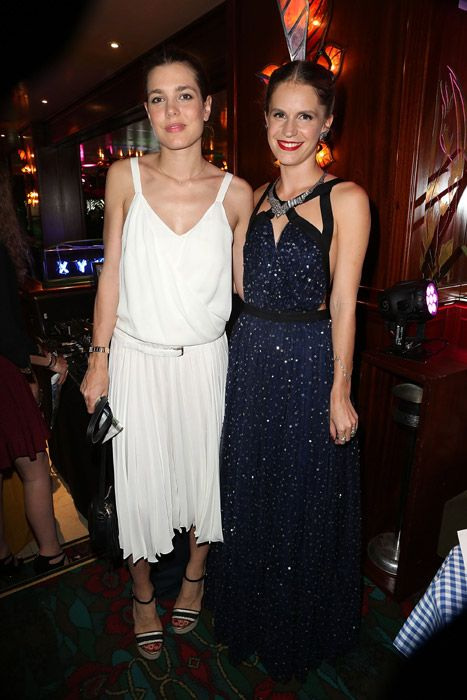 Charlotte Casiraghi and Eugenie Niarchos at the Eugenie Niarchos First Jewelry Collection Launch Cocktail in Paris Photo: © Getty Images
