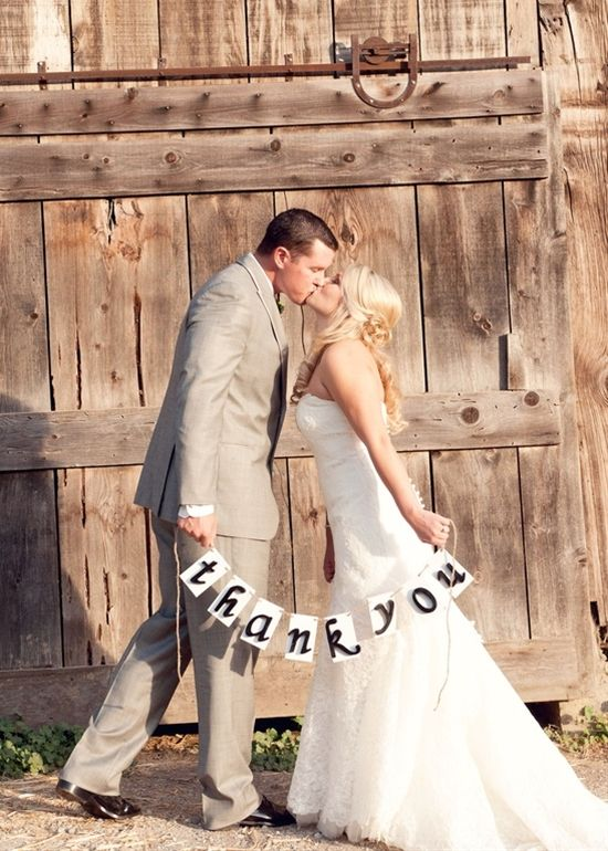 Thank You Card Photos! - Click image to find more Weddings Pinterest pins