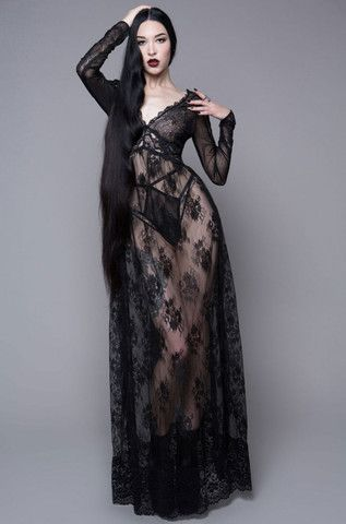 HOUSE OF WIDOW   DEAR DEPARTED LACE MAXI DRESS   Fetish