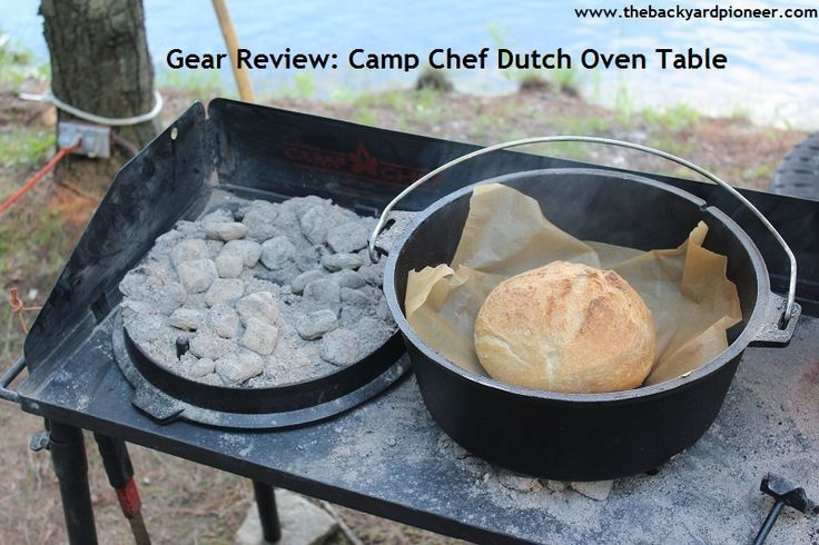A gear review of the camp chef 38 dutch oven camp table for Dutch oven camping recipes for two