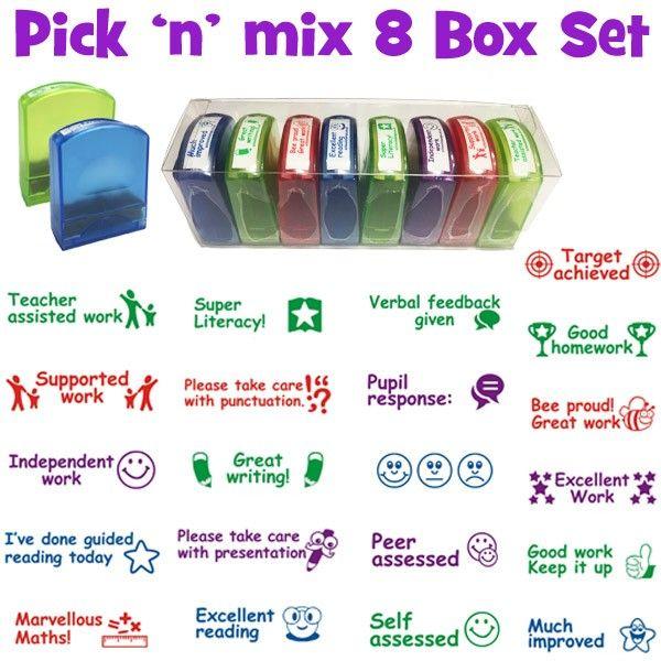 Teacher Stamps   Pick 'n' Mix 8 Teacher Stamp Value Set