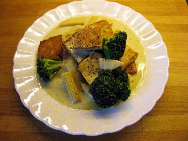 Wokad tofu i kokosmjölk