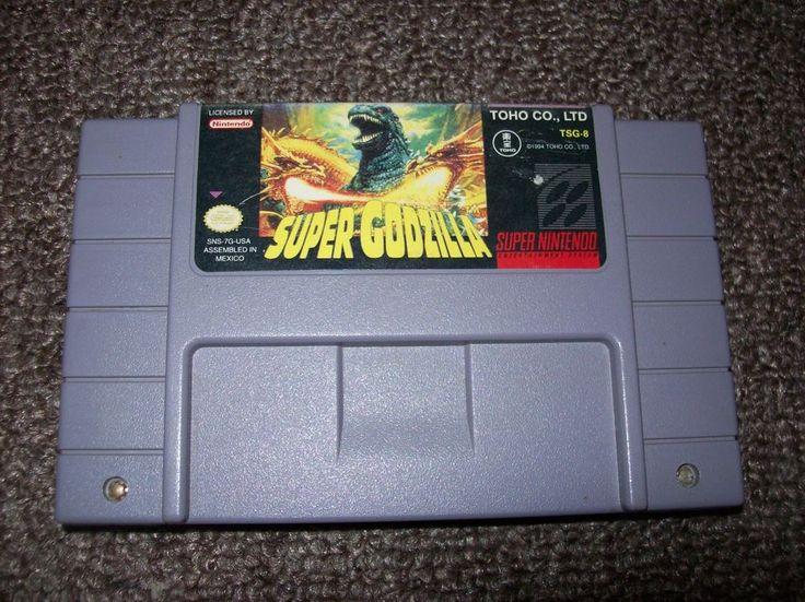 Super Godzilla (Super NES, 1993) Super Nintendo Video Game - *Cleaned & Tested*