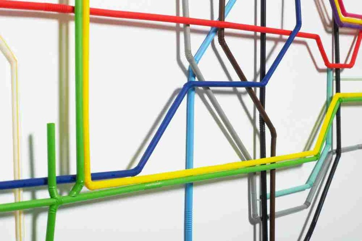 tube map straws