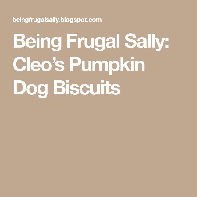 Being Frugal Sally: Cleo's Pumpkin Dog Biscuits