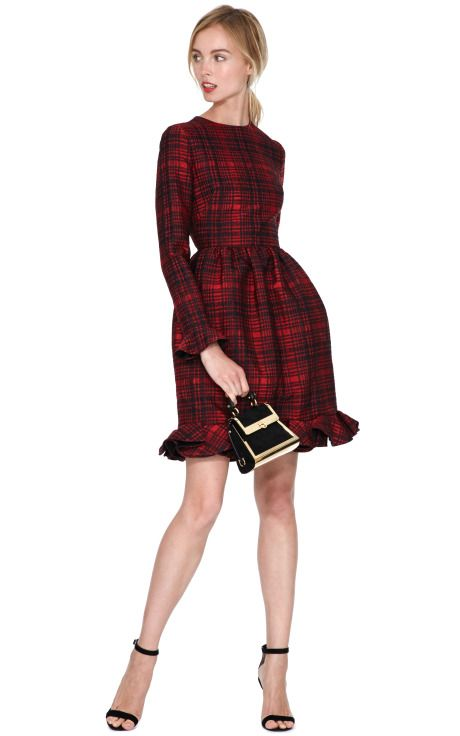 Valentino, Plaid Ruffle-Detail Dress $3,415- $5,690