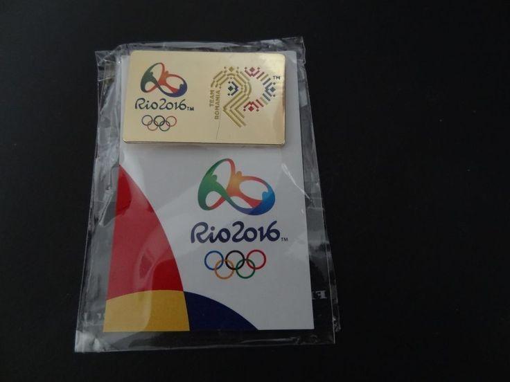 Romania NOC Olympic Team Pin dated Rio 2016 Team Romania Olympics New Sealed #Romania