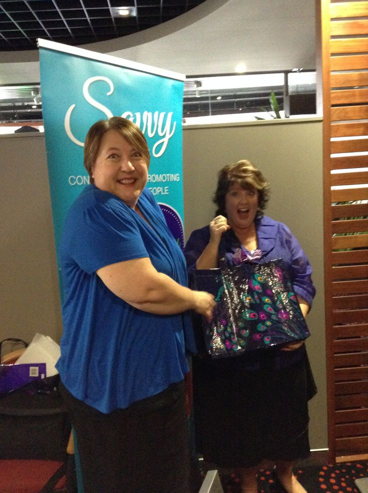 Our host Katrina Willis receiving her host kit from founder Sharyn Swan.