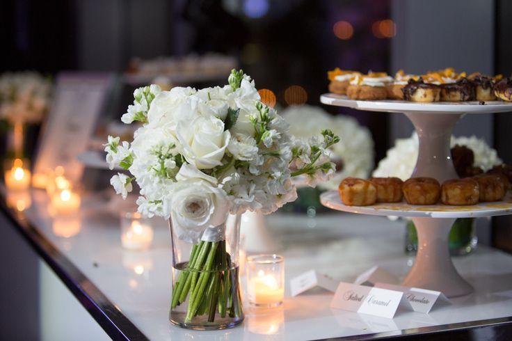 Malaparte Terrace wedding reception doughnuts by Jelly Modern Doughnuts