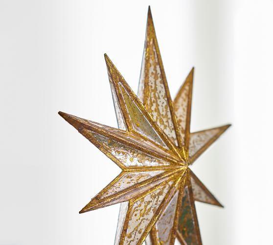 Mirrored Star Topper Christmas Tree Star Pottery Barn