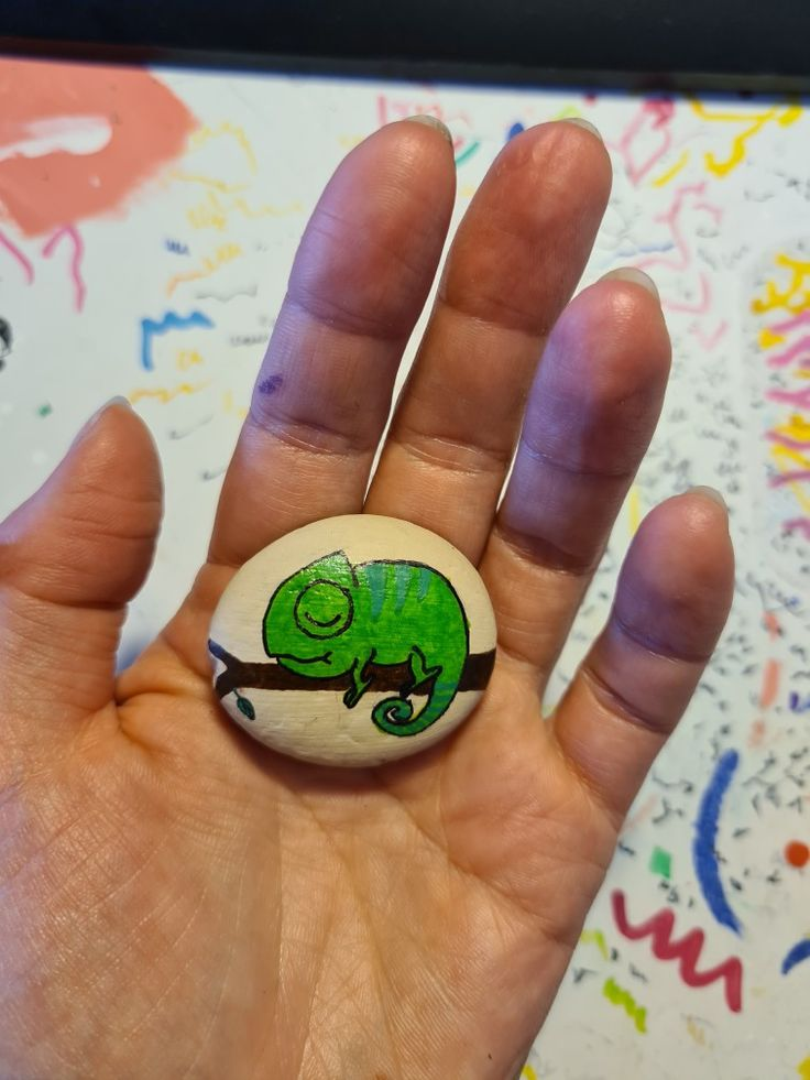 lovely chameleon  steine bemalen steine malvorlagen tiere