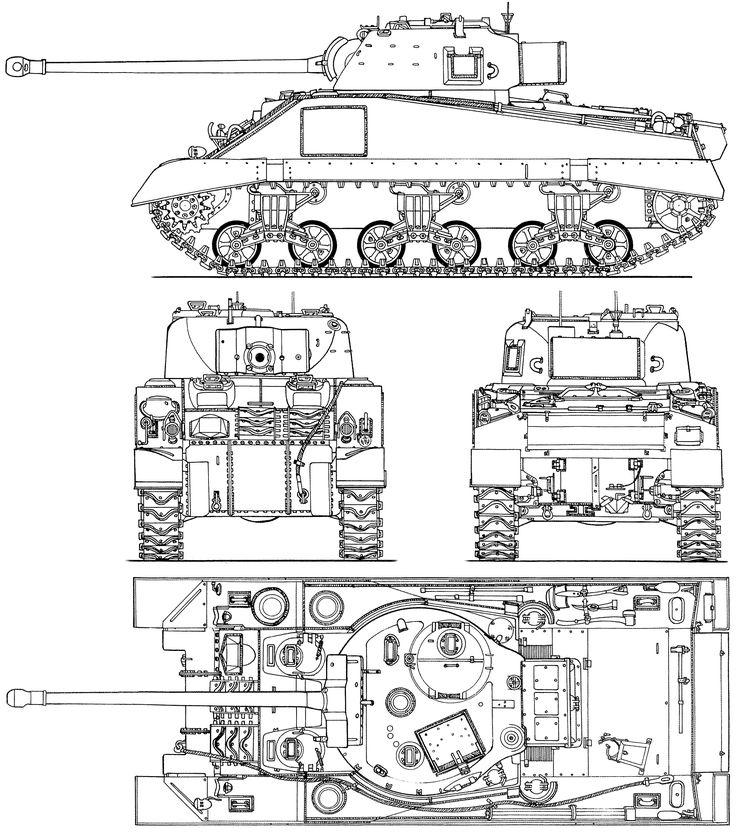M4 Sherman Blueprint