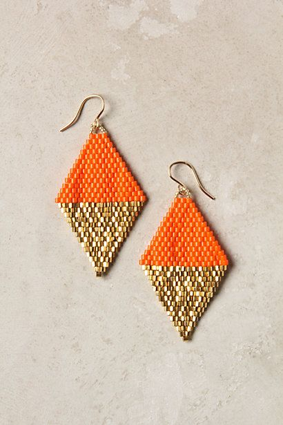 Intricately detailed hand woven earrings. They are also fair trade!!!