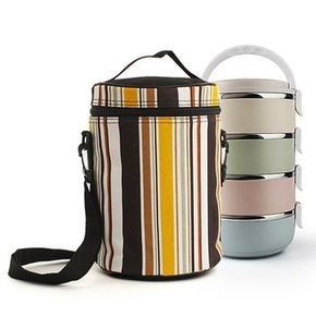 1/2/3/4 Layers Stainless Steel Thermal Insulated Lunch Box Bento Food Storage Container Cheap - NewChic Mobile.