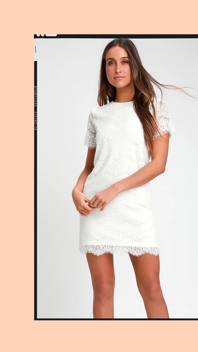 Take Me To Brunch Ivory Lace Shift Dress Lace Shift Dress Ivory Lace Dress Lace White Dress [ 1200 x 675 Pixel ]