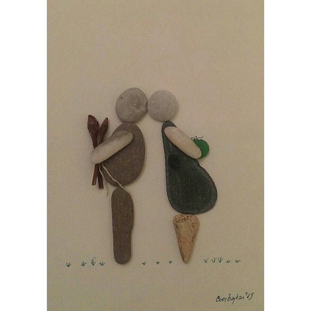 Pebble on Canvas - love gifts