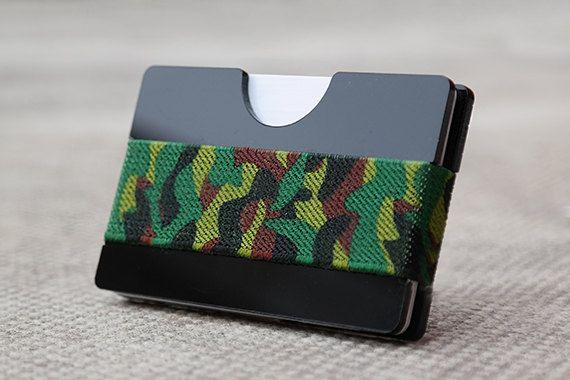 Black Wallet, Birthday Gift Idea, Wallet for Him, Minimalist Wallet, Cash Holder, Modern Wallet, Slim Design (00BBC)