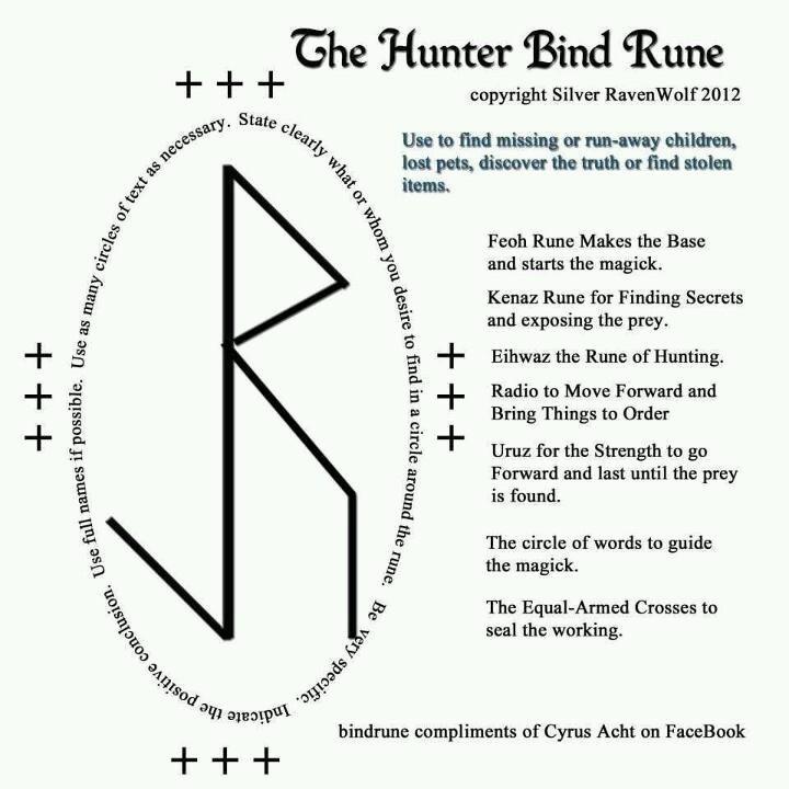 the hunter bind rune runes pinterest runes paganism. Black Bedroom Furniture Sets. Home Design Ideas