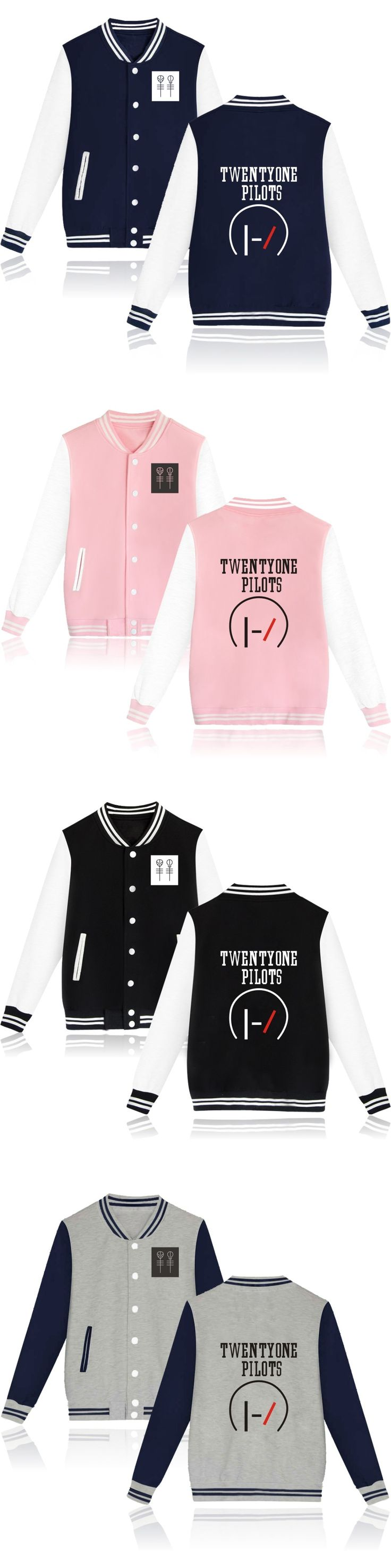 Hot Fashion Twenty One Pilots Baseball Jacket XXS High Quality Capless Hoodies Men & Women 4XL Sweatshirt Brand Clothing