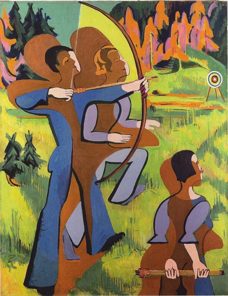 Ernst Ludwig Kirchner, Archers, 1935, oil on canvas