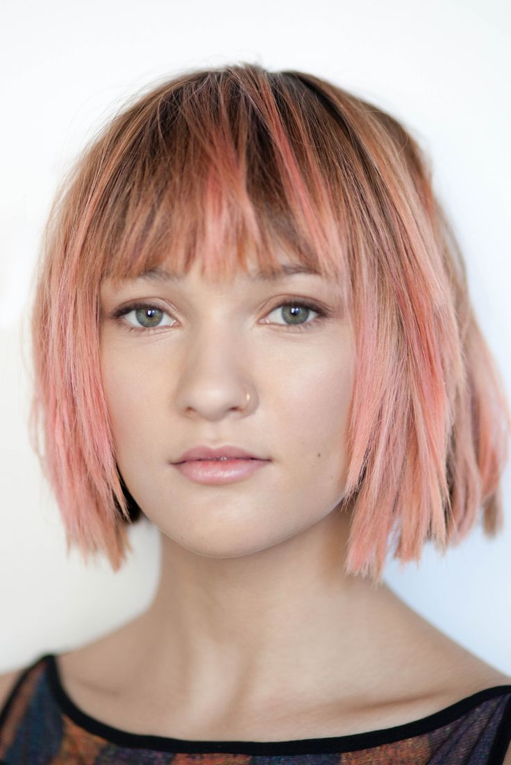 I just love the rose gold pink, want it underneath my hair !