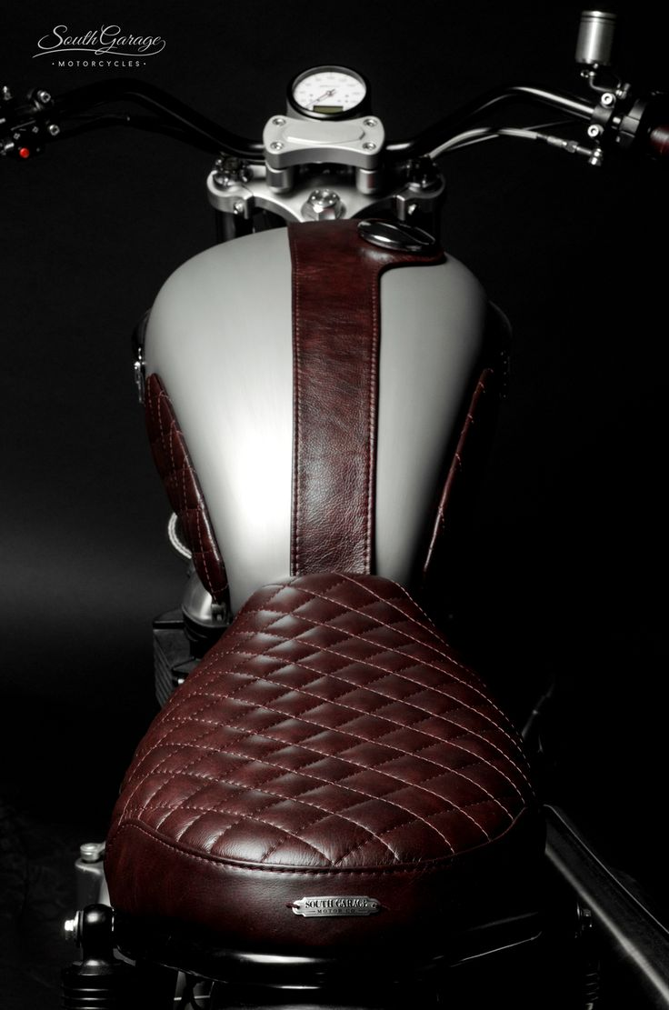 28 Best Motto Seats Images On Pinterest Custom Motorcycles Cafe Sang Dong Bobber Wiring Diagram Rouge Leather Motorcycle Seat And Tank Accessories By South Garage Looks Like Sexy Woman