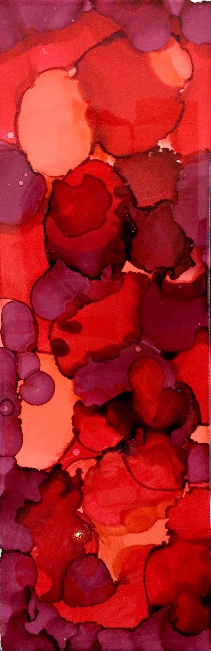Alcohol ink on ceramic  #abstractart #jamesstbne #alcoholink #brisbane #jamesst