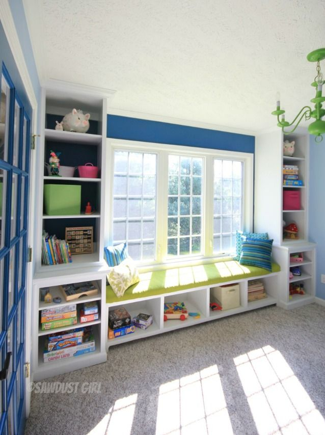 Storage Around Windows And Bench Play Room Pinterest Walks Cabinets And Window