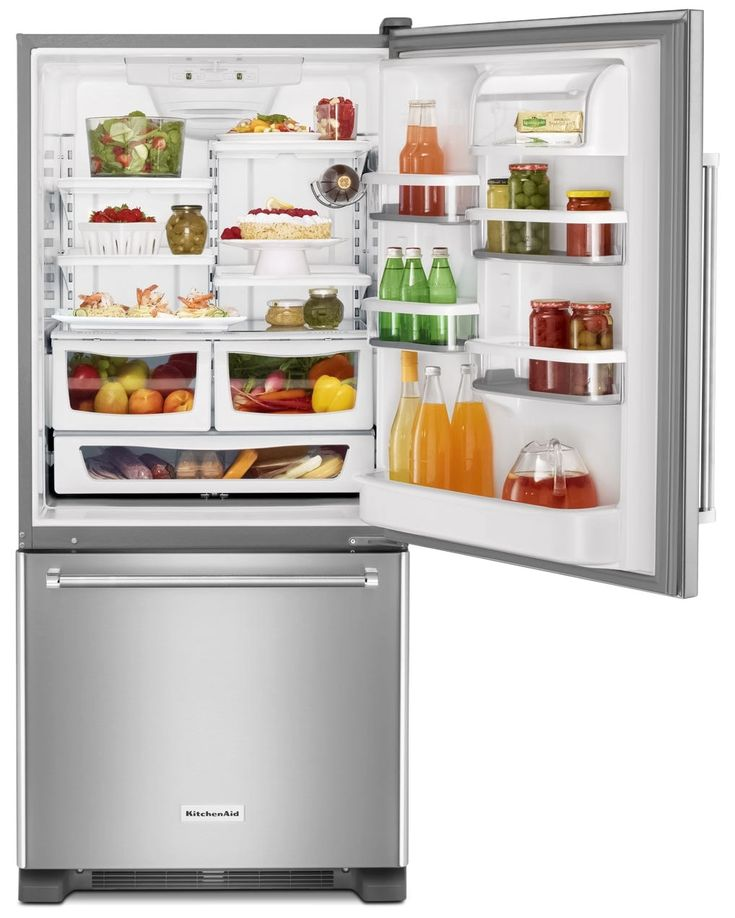Capacity Stainless Steel KitchenAid Refrigerator Makes Storing And  Accessing Your Food A Snap. This Appliance, By Its Energy Star® Qualified  Rating, ...