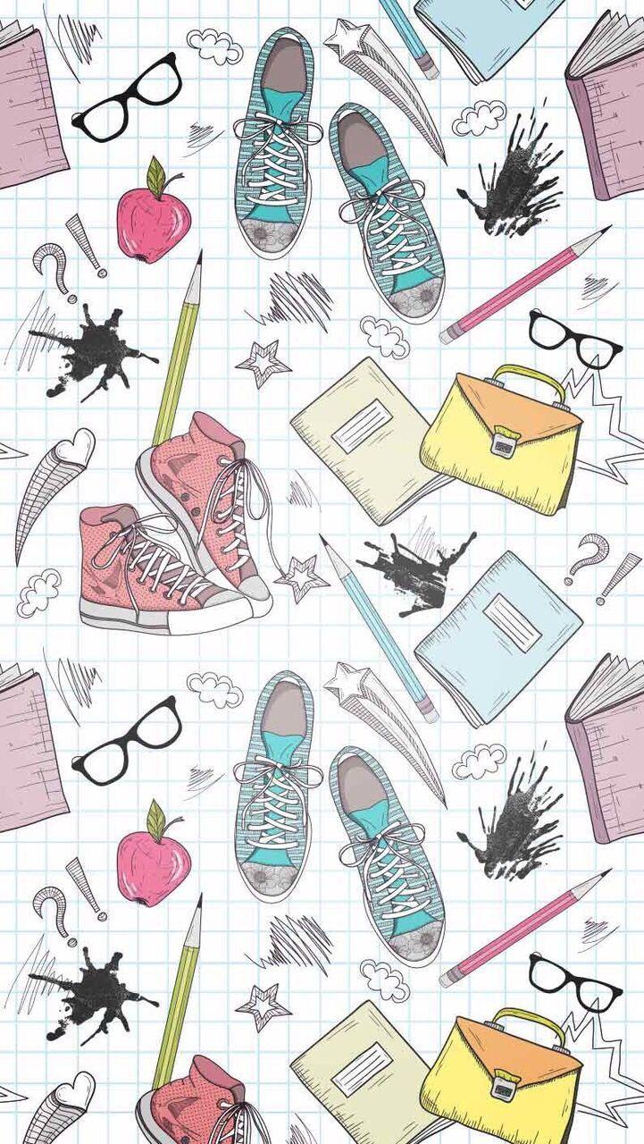 Wallpaper iphone back to school ⚪ паттерны papel de