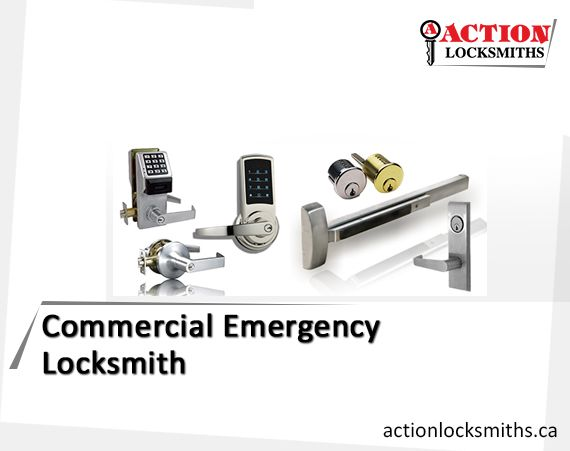 To get the existing commercial door locks repaired or to get the new locks installed in Toronto, contact Action Locksmiths - the leading locksmith services provider since 1975. The company also offers the cost-effective state-of-the-art 24 hours emergency services to solve the industrial door lockout problems.