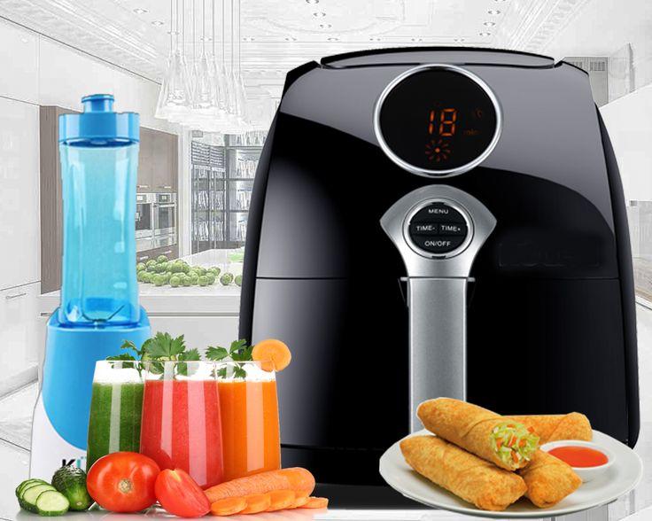 Anda yang suka masak-memasak pasti akan terbantu dengan Kuche Air Fryer Digital. Mesin penggoreng ini dapat menggoreng aneka makanan tanpa minyak, lebih praktis, dan lebih sehat.