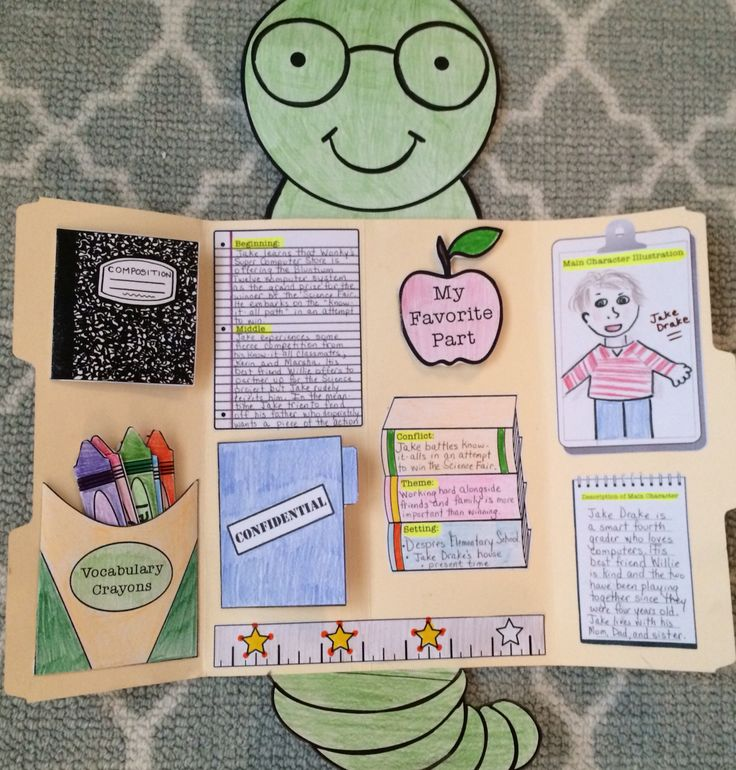 Bookworm book report Lap Book on tpt!