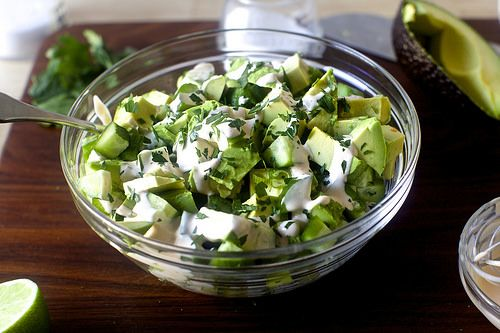 This salad is from Smitten Kitchen. It takes about 5 minutes and there are  a ton of ways to adapt it. Add some chopped summercrisp lettuce or arugula  for bulk. Laura Frerichs offers alternatives to ingredients that might come  straight out of your CSA box!