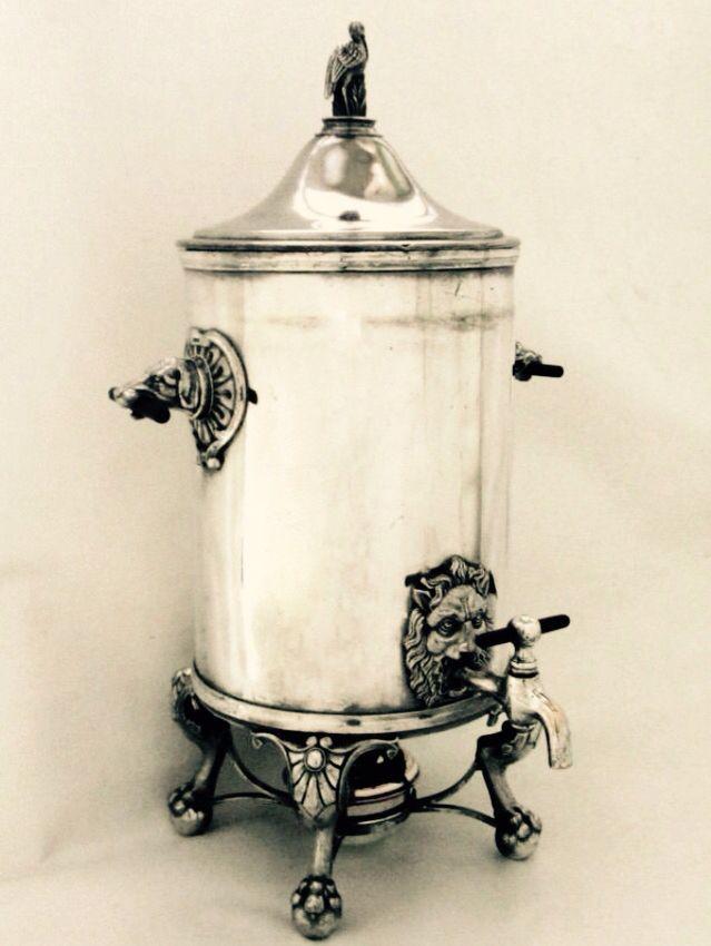 Victorian coffee urn , 1868  Made in U.S.A Eurake silver plate