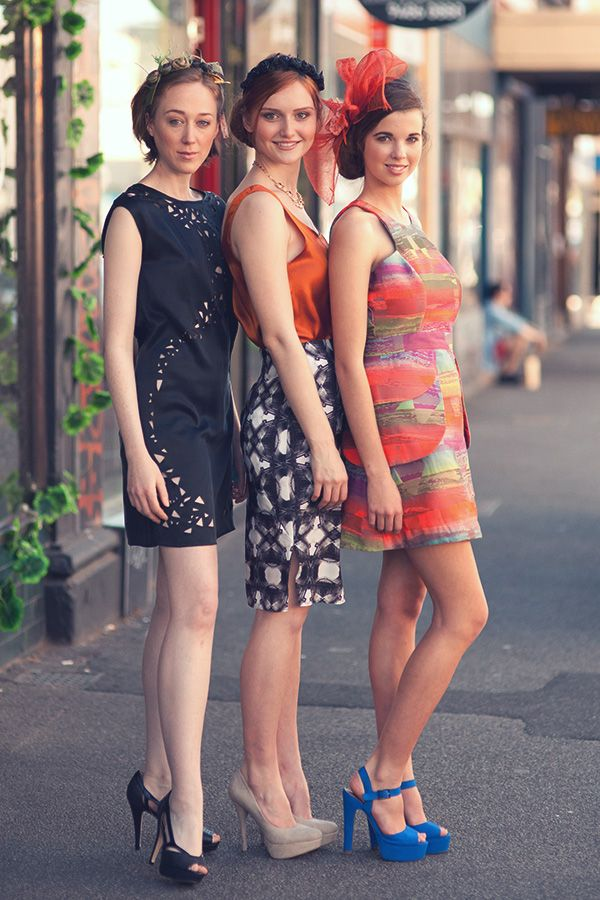 Three beauties styled and inspired by the fashion in store at Gusto & Elan.  Next stop... the Melbourne Spring Races
