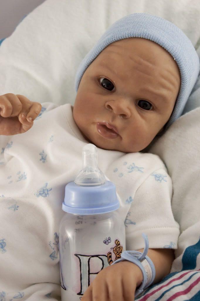 Aa African American Biracial Vinyl Reborn Baby Doll Kit