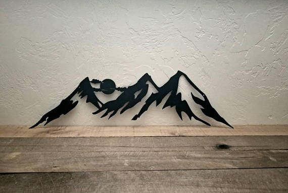 Metal Mountain Wall Art Rustic Home Decor Mountain Range Etsy Mountain Wall Art Outdoorsy Decor Wildlife Decor