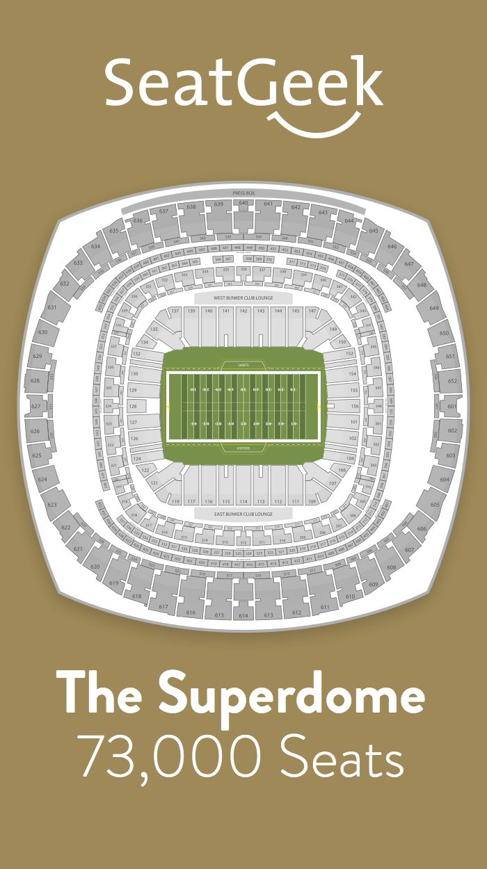 Find the best deals on New Orleans Saints tickets and know exactly where you'll sit with SeatGeek.