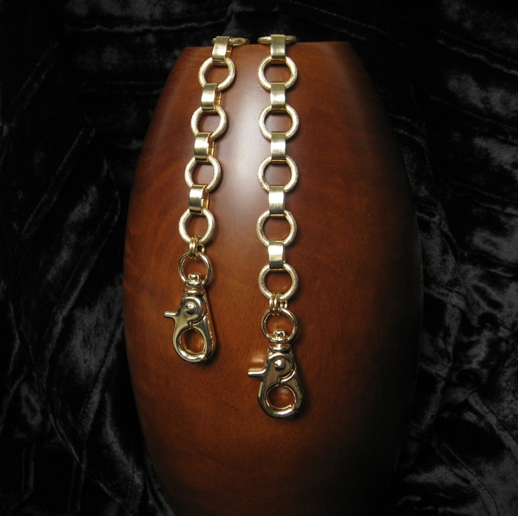 """GOLD Chain Purse Strap - Elegant Textured Ring Chain - 5/8"""" (.625 inch) Wide - Your Choice of Length"""