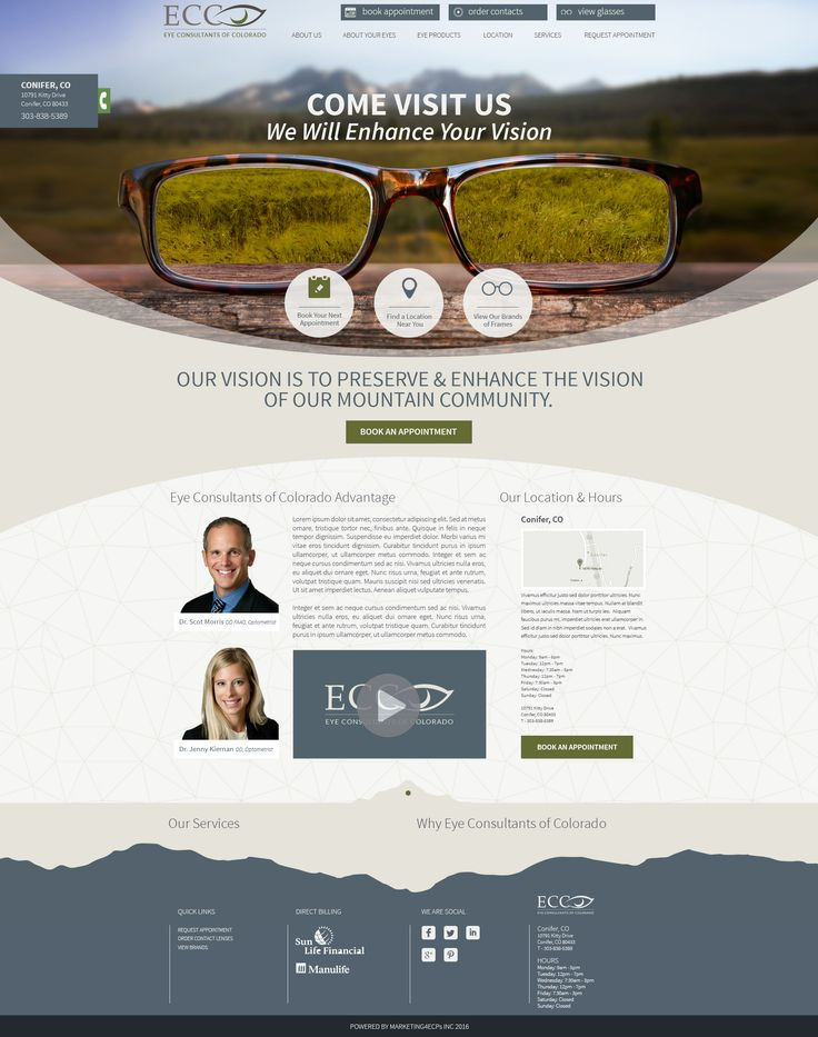 Visit one of our latest website designs for Optometrists with Eyecare Consultants of Colorado!  www.Marketing4ECPs.com #optometristwebsites #optometrist #websites #ecp #eyecare #optical #optometry