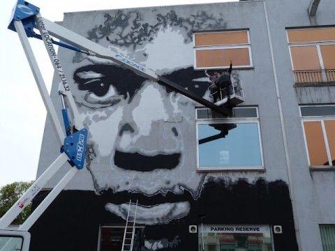 Jef Aérosol New Mural @ La Louvière, Belgium