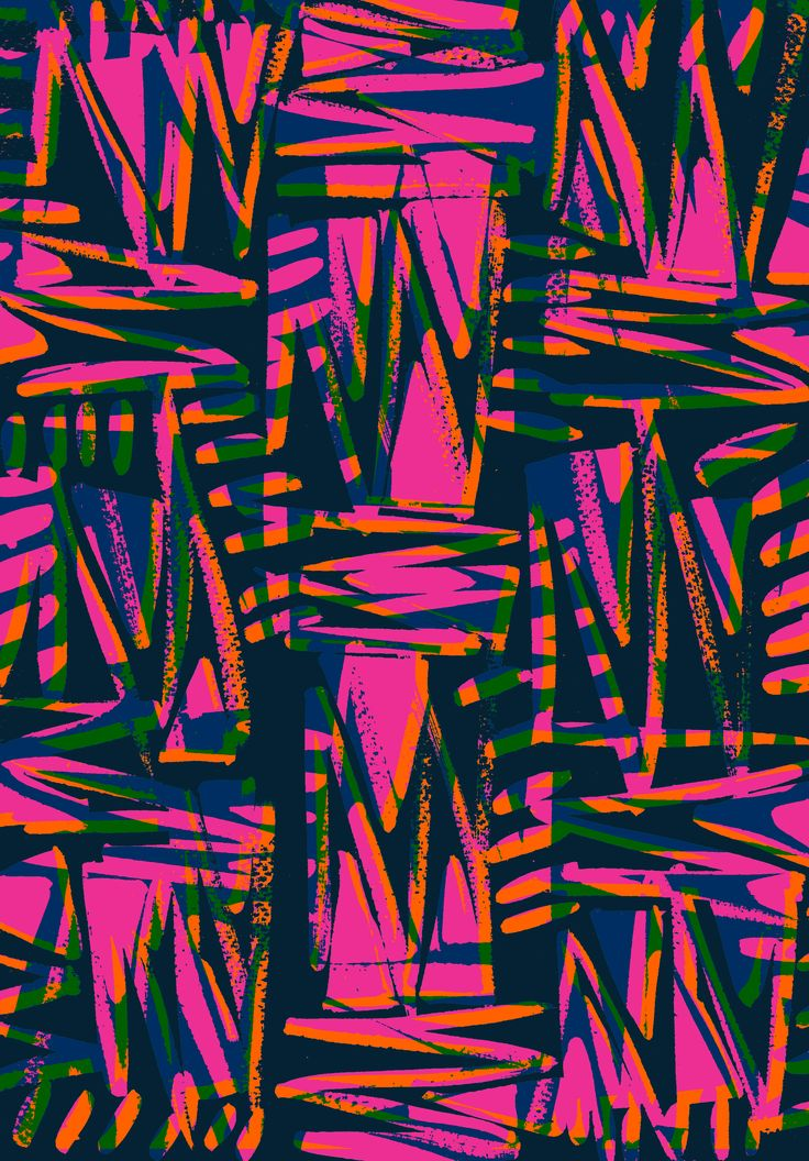 Bright zig-zag scribble - Sarah Bagshaw