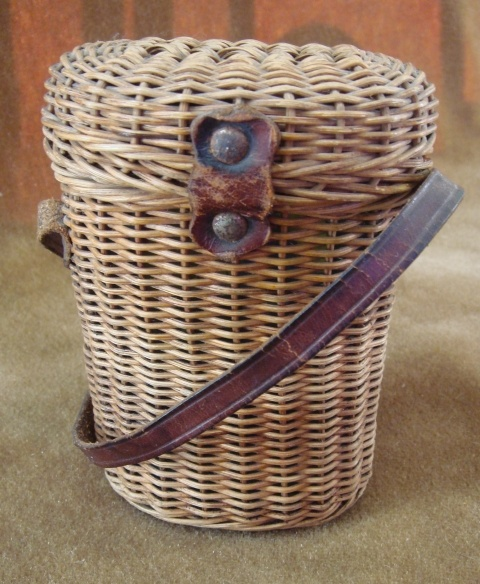 French Antique Holy Water Basket Carrier