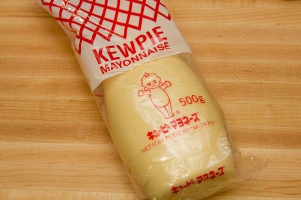 How to substitute for Japanese mayonnaise // For 1 cup of American mayo, add 2 Tbsp rice vinegar and 1 Tbsp sugar, whisk until sugar dissolves.