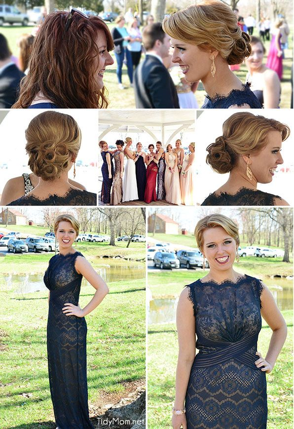 Classic Style up-do hair style for prom, homecoming, wedding or formal.